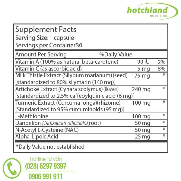 supplement facts thực phẩm chức năng bổ gan megaliver
